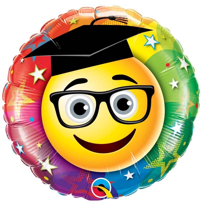 "Globo Graduado Emoji 18""-45cm Qualatex"