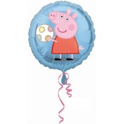 Globo Peppa Pig redondo foil