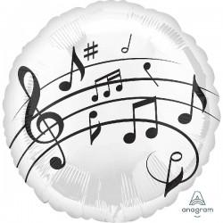 Globos notas musicales foil