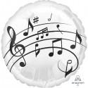 """Globos notas musicales 18""""-45cm foil"""