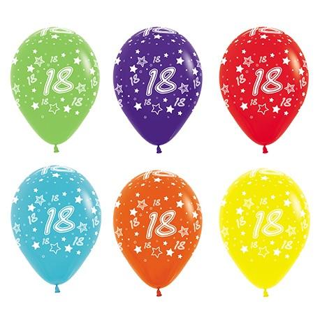 """Globos Número 18 12""""-30cm Sempertex"""