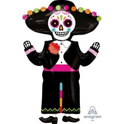 Globo Esqueleto Día de la Muerte foil