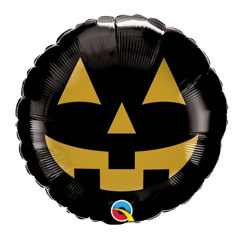 Globo calabaza negra Halloween
