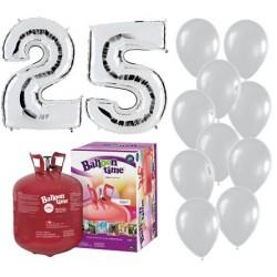 Pack globos 25 aniversario...