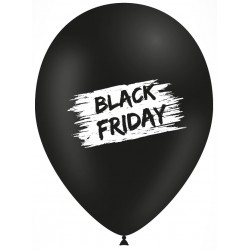 "Globos Black Friday 12""-30cm TG"