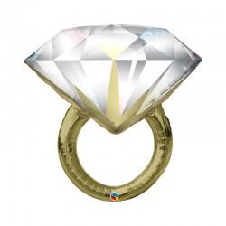 Globo anillo de bodas de foil