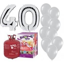Pack globos 40 aniversario...