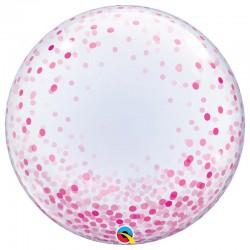 Bubble Burbuja confeti rosa