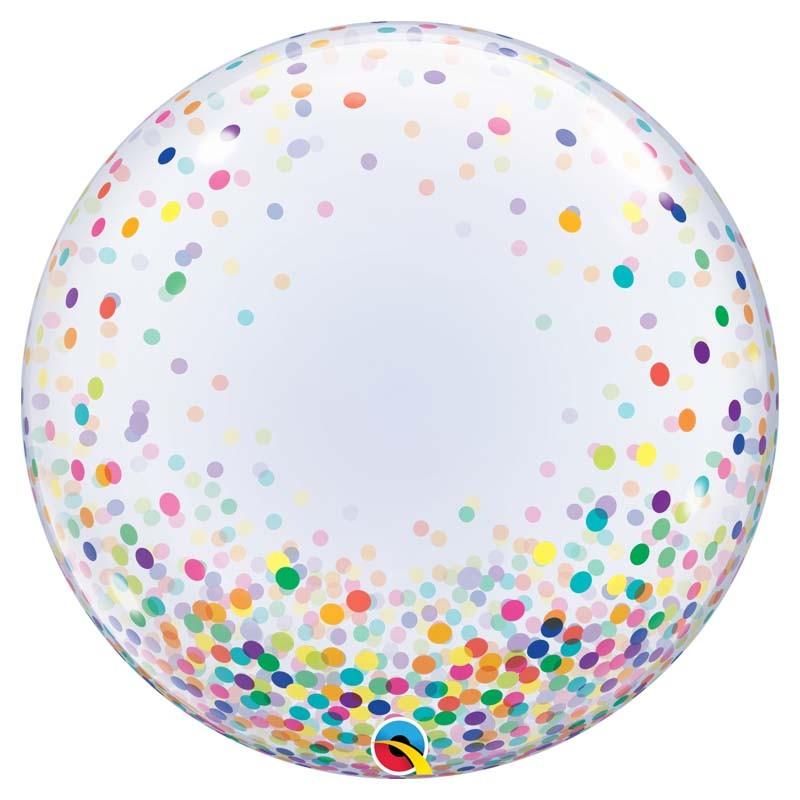 Bubble Burbuja confeti multicolor