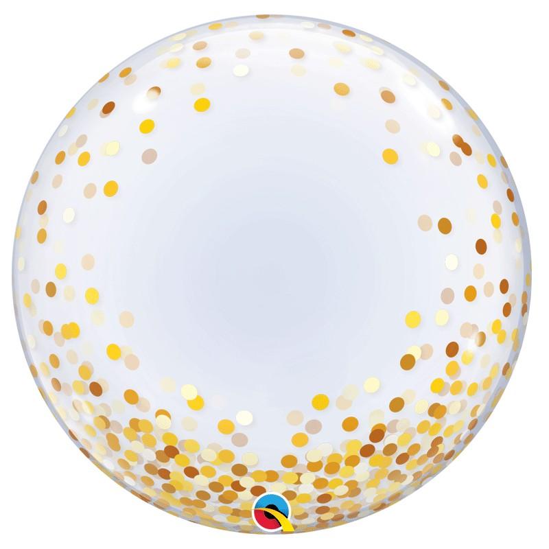Bubble Burbuja confeti dorado