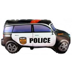 Globo coche policia forma foil TG