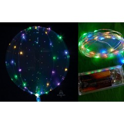"PACK CRYSTAL CLEARZ 18"" CON TIRA LED PASTEL"