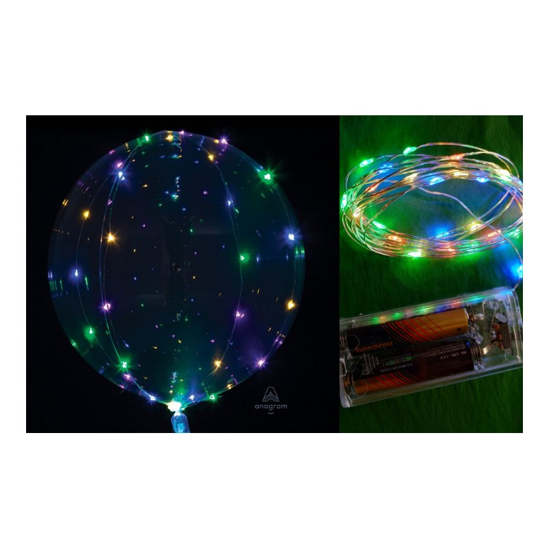 """PACK CRYSTAL CLEARZ 18"""" CON TIRA LED PASTEL"""