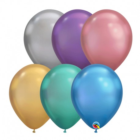 "Globos CHROME 11""-28cm Qualatex surtidos"
