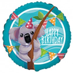 Globo Koala Happy Birthday foil