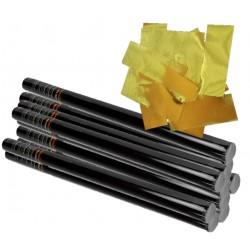 PACK 10 cañones manuales confeti METAL profesional 200gr