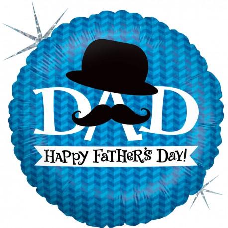 Globo Happy Fathers day bigote foil