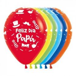 "Globos Feliz día Papá 12""-29cm Sempertex"
