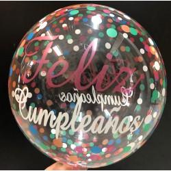 Burbuja Feliz Cumpleaños confeti TG