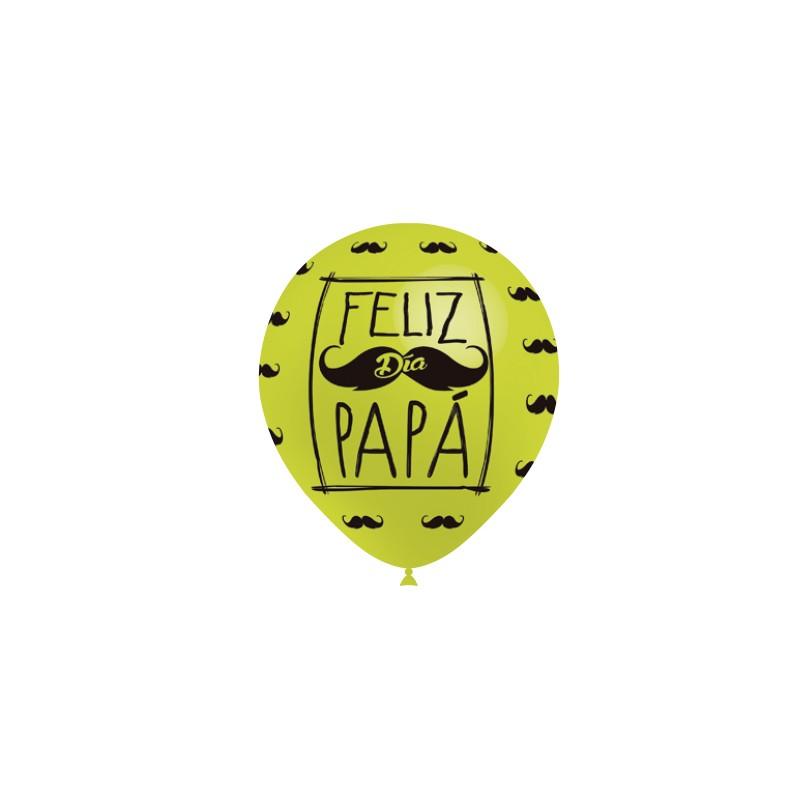 """Globos Feliz día Papá 12""""-29cm Balloonia"""