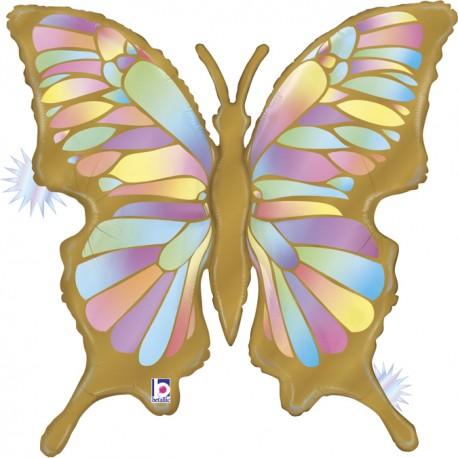 Globo Mariposa Ópalo Foil