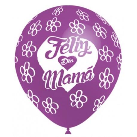 """Globos Feliz día Mamá 12""""-29cm Balloonia"""