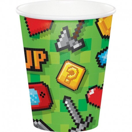 Vasos gaming party de cartón