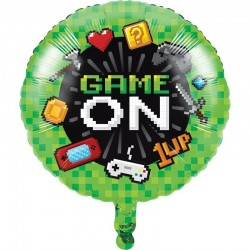Globo gaming party de foil 45cm