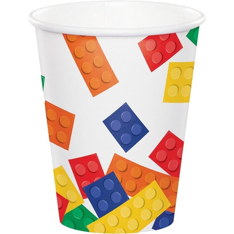 Vasos BLOCK party de cartón