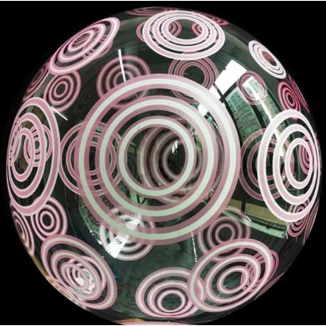 Globo Burbuja círculos ROSAS TG