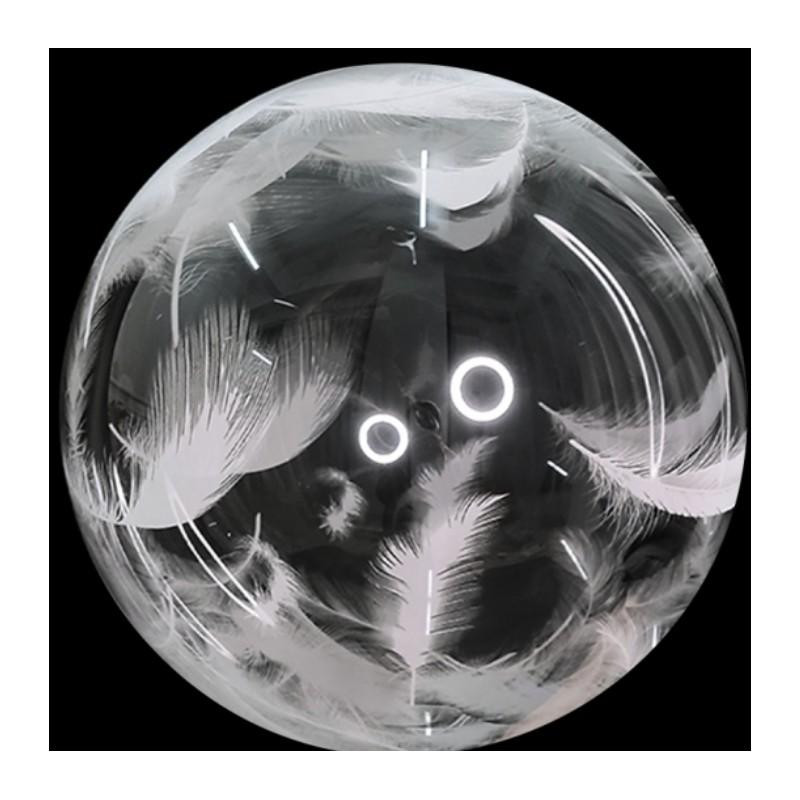 Globo Burbuja transparente PLUMAS TG