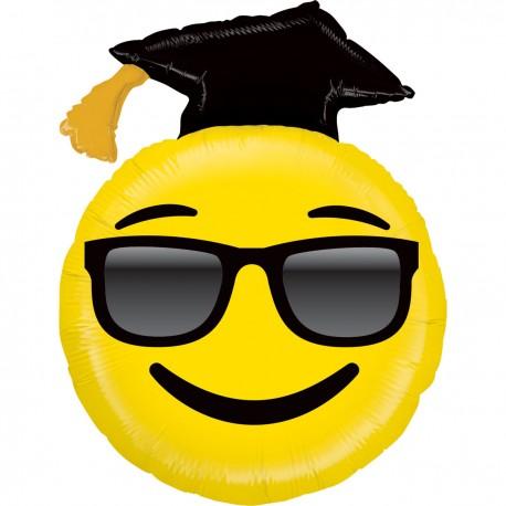 """Globo Graduado Emoji gafas 37""""-94cm foil"""