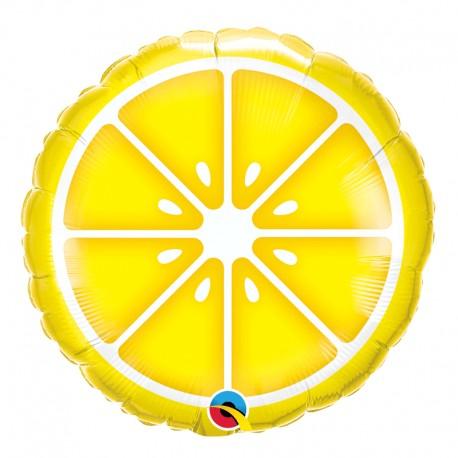 "Globo limón Qualatex 18""-45cm de foil"