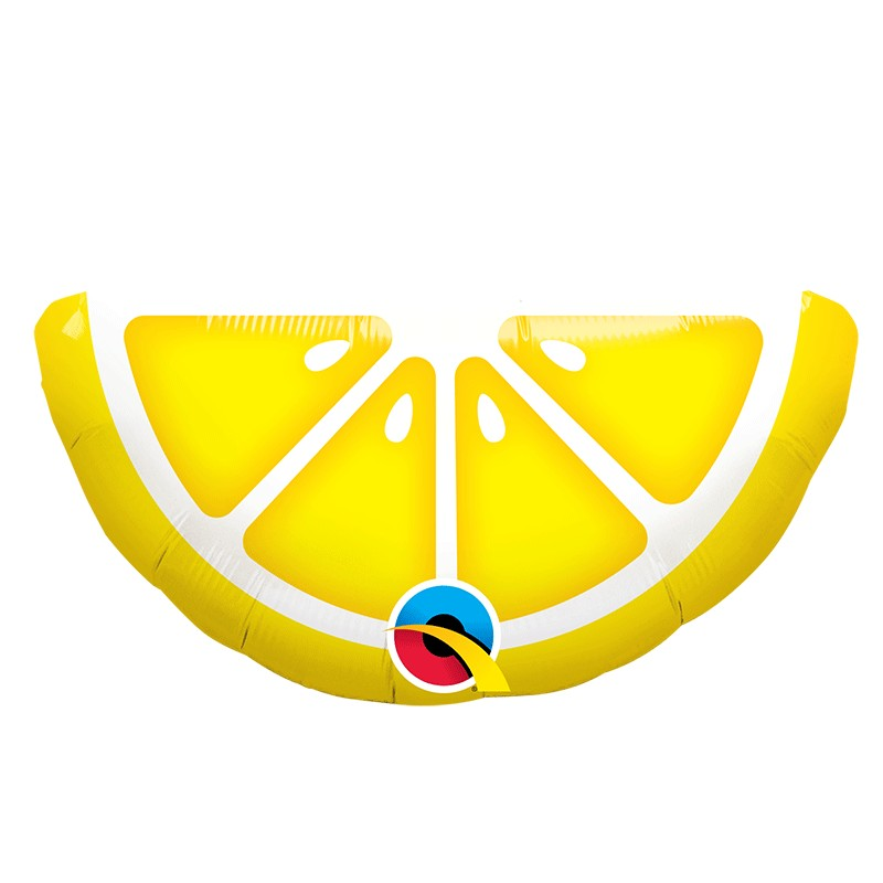 "Globo limón Qualatex 14""-35cm de foil"