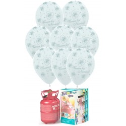 Pack globos y helio Vivan Novios látex