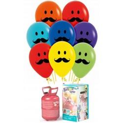 Pack globos y helio BIGOTE
