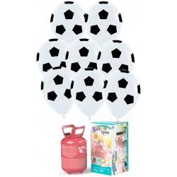 Pack globos y helio balón de fútbol