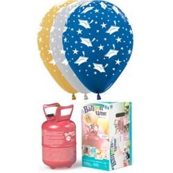 Pack globos y helio para graduación