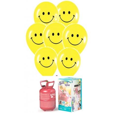 Pack globos y helio Sonrisa