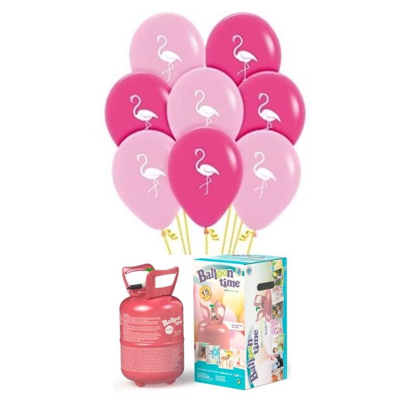 Pack globos y helio FLAMENCO