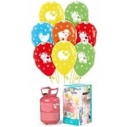 Pack globos y helio animales de la GRANJA