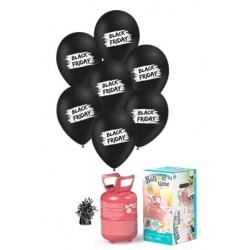 Pack globos BLACK FRIDAY BROCHA látex pequeño (10)