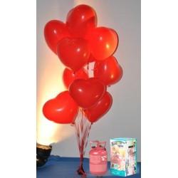 Pack globos y helio San Valentín látex