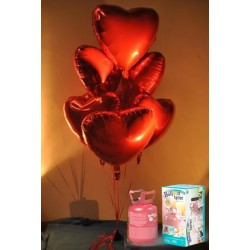 Pack globos y helio San Valentín foil