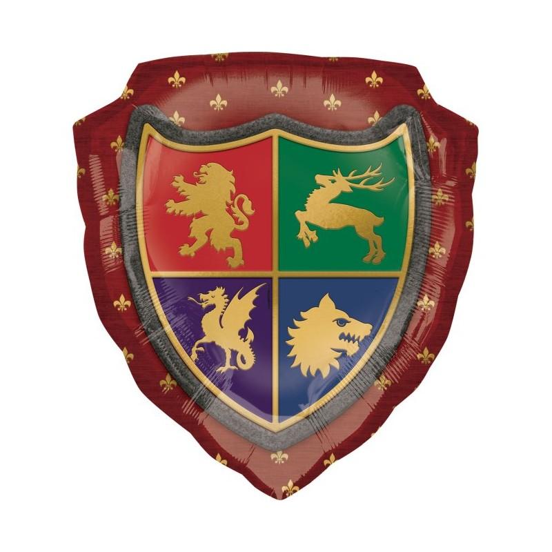 Globo escudo Medieval forma foil
