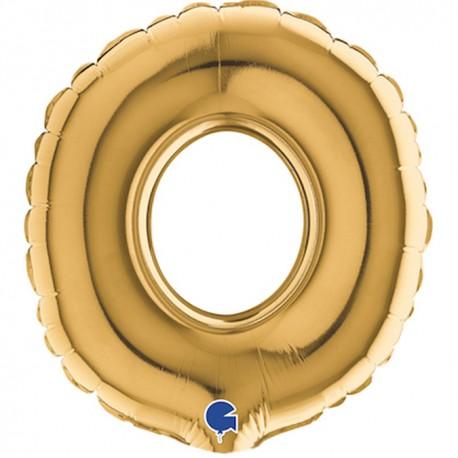 Globo Letra O 18cm TG Foil