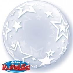 Bubble Burbuja Estrellas transparente