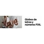 Globos de letras y números FOIL