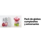 Pack de globos para cumpleaños y aniversarios