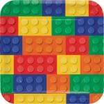 Vajilla lego bloques